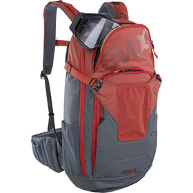 EVOC Neo Mochila Protectora 16l, chili red/carbon grey